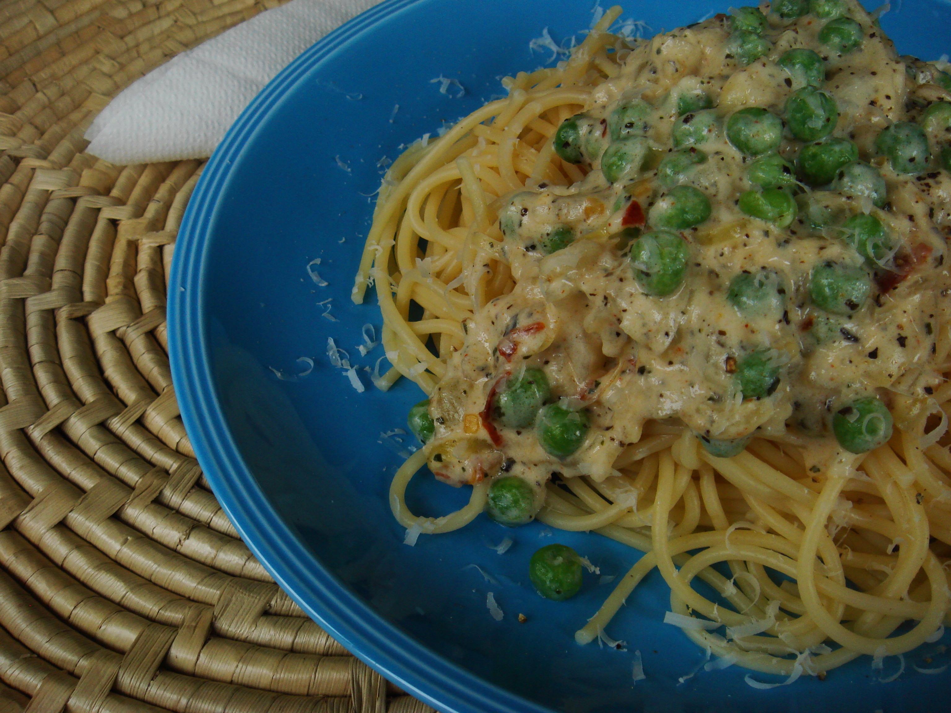 pastasås med skinka och bacon