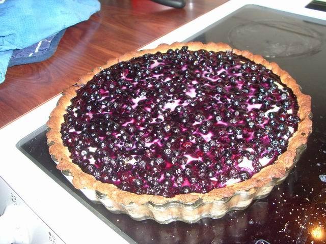 blåbärs paj utan smör