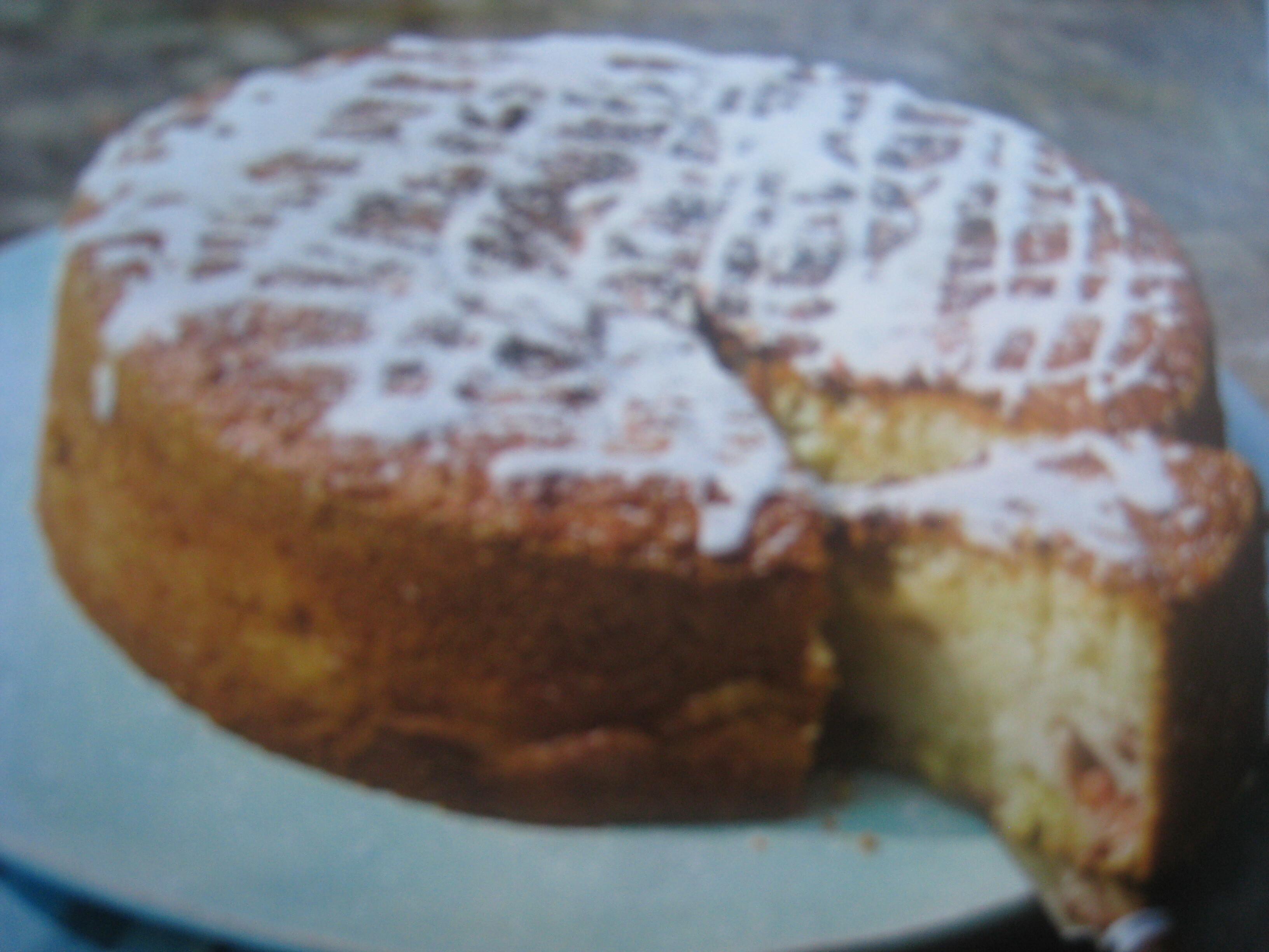 rabarberkaka med vit choklad
