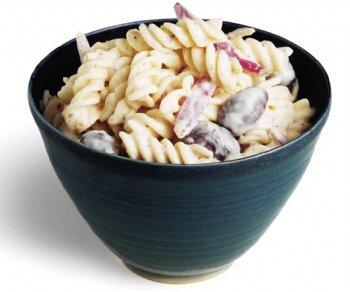 på pastasallad