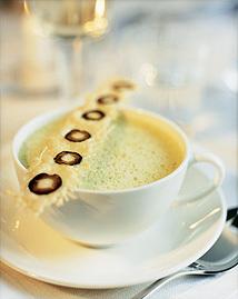 Grön cappuccino..
