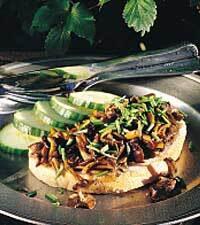 Svampsmörgås med gräslök