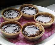 dubbla kakor med chokladkräm