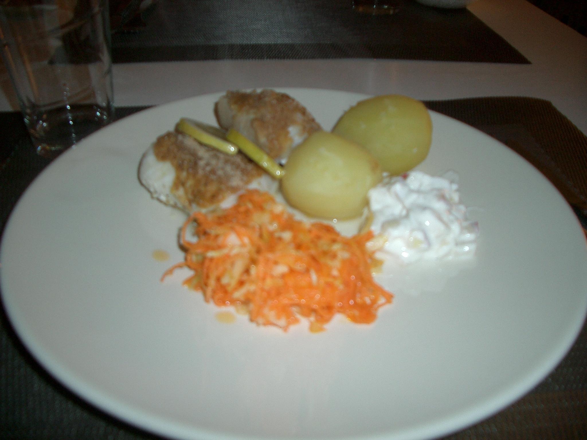 Fisk med äppelyoghurt