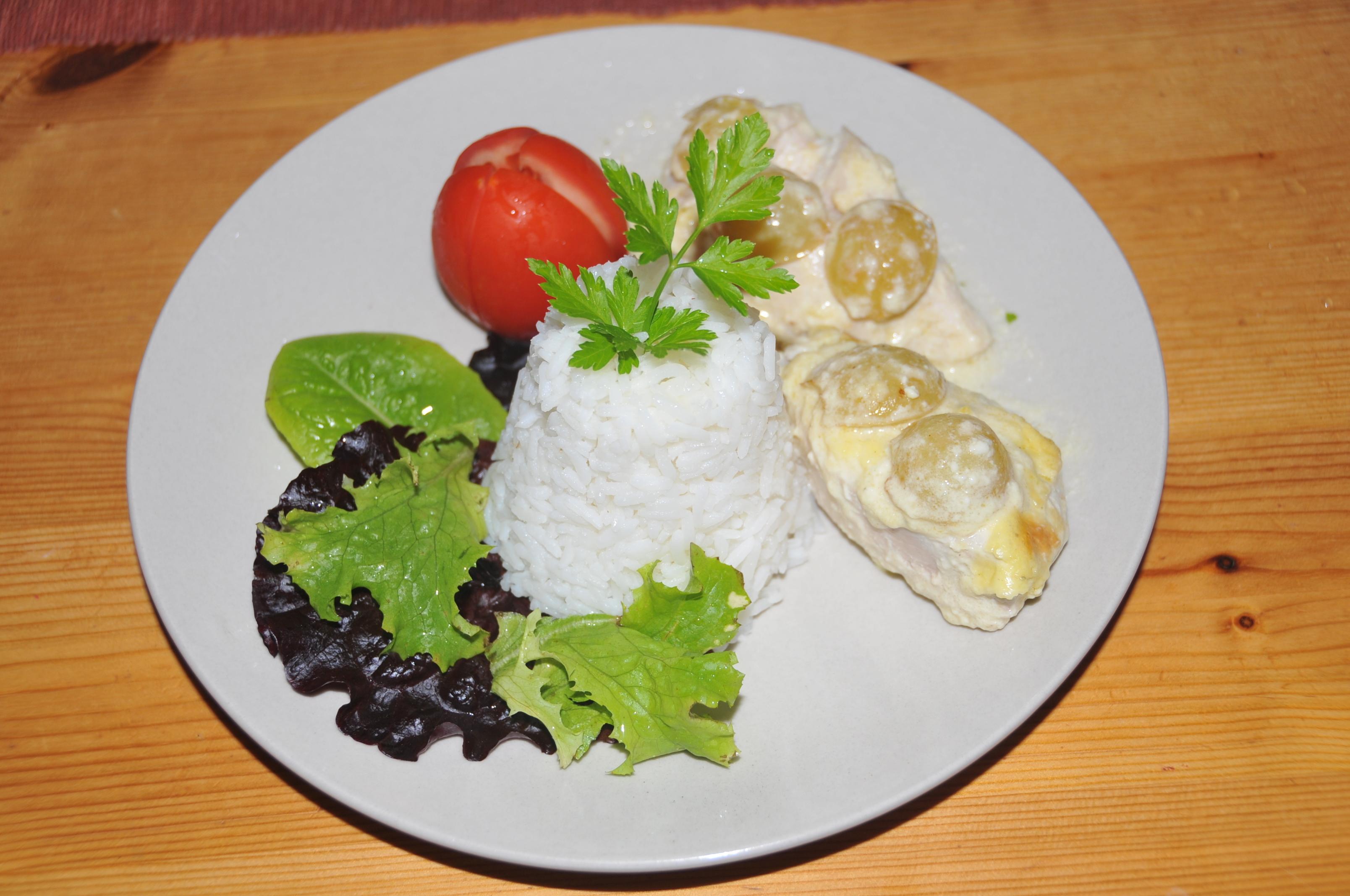 kyckling vindruvor ädelost
