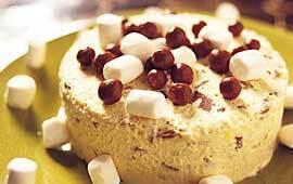 Daimglass med marshmallows