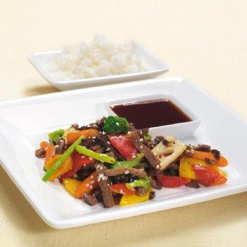 Teriyakigryta med wokgrönsaker