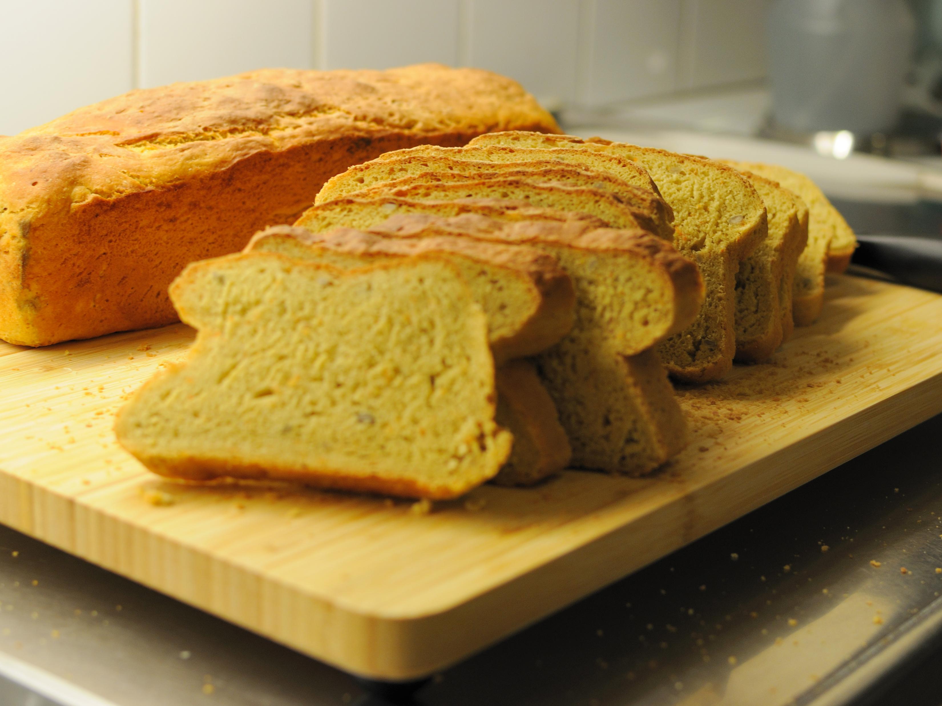rågsikt bröd i form