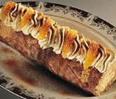 rulltårta med apelsinkräm i fyllningen