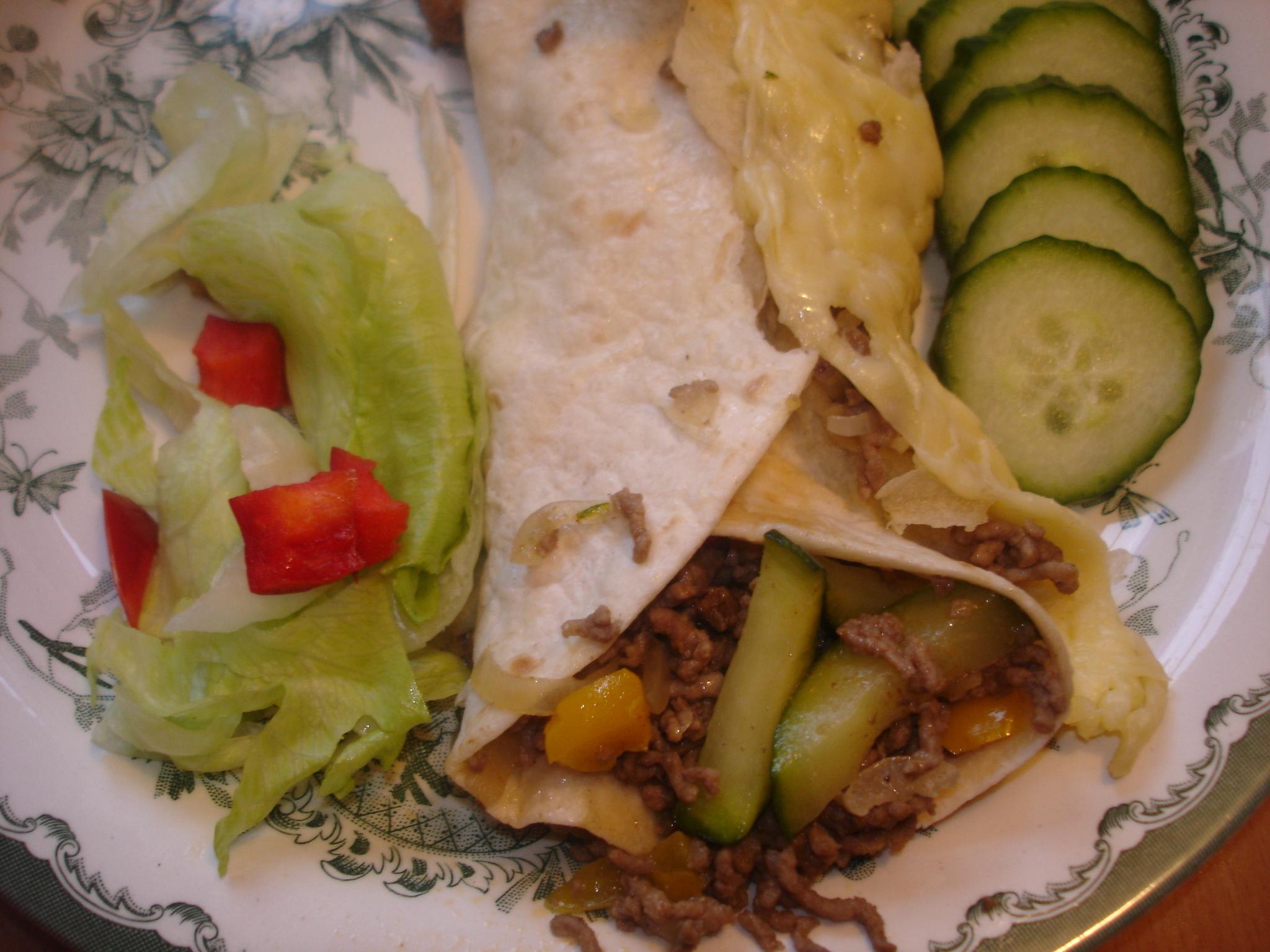 Enchiladas med köttfärsröra