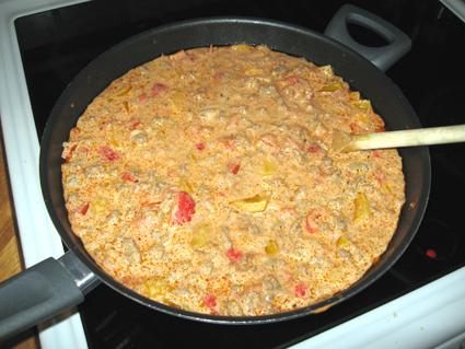 köttfärsgryta med ris