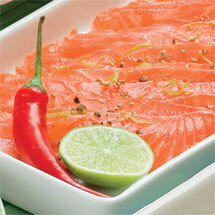Lime- och chiligravad lax