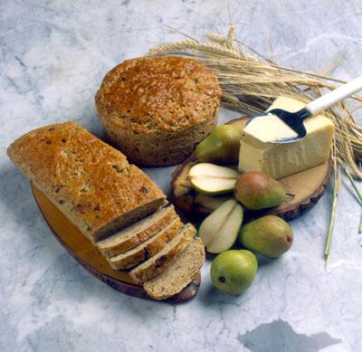 Blandbröd med frukt