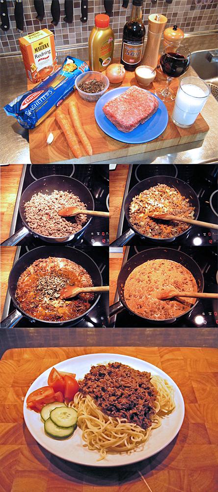 Köttfärssås med trattkantareller