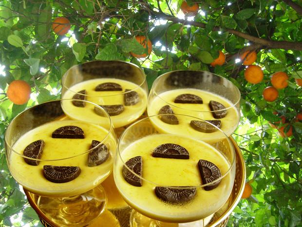apelsinpannacotta med gelesocker