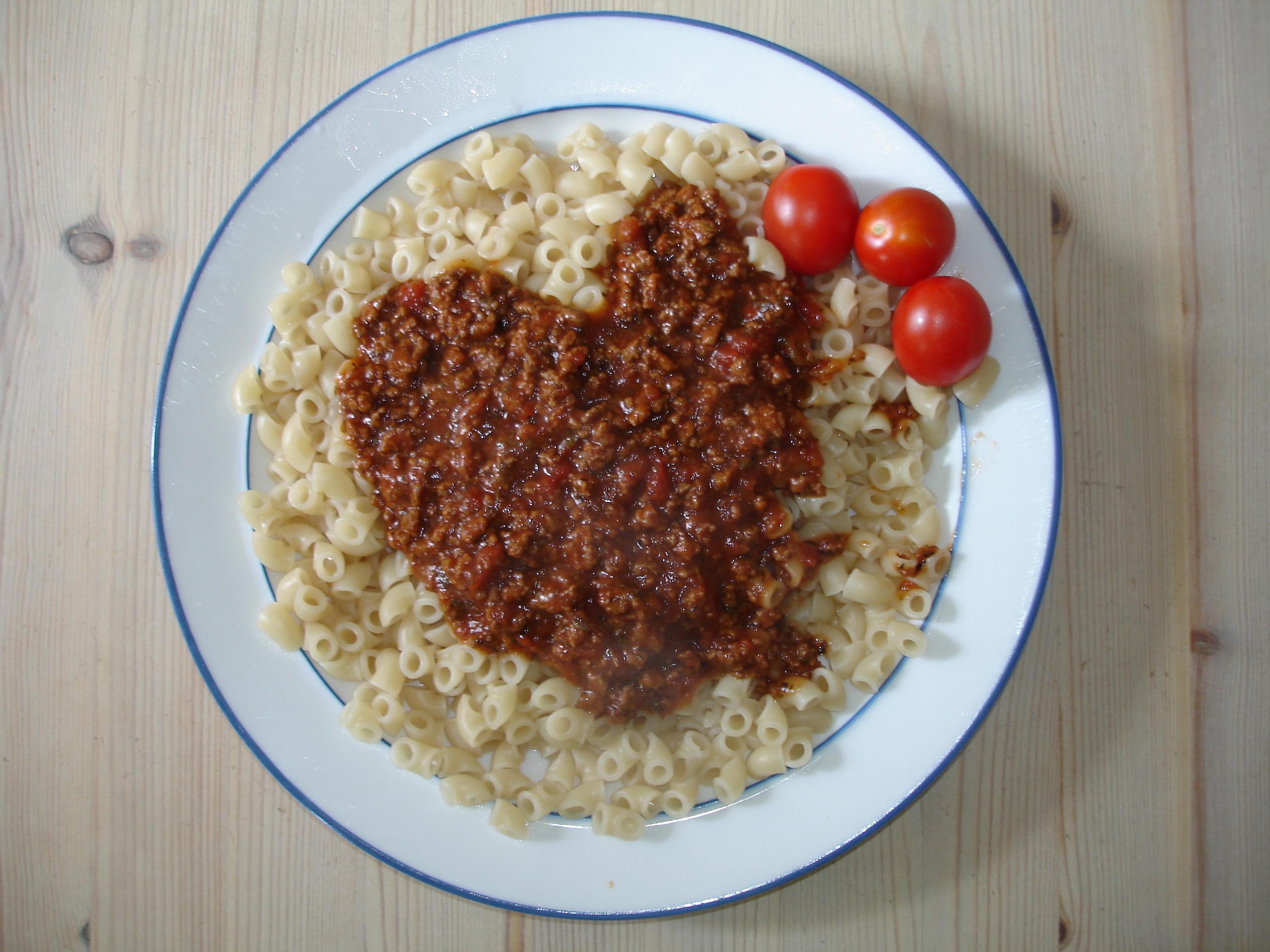 Tinas bästa köttfärssås alternativt vegetarisk