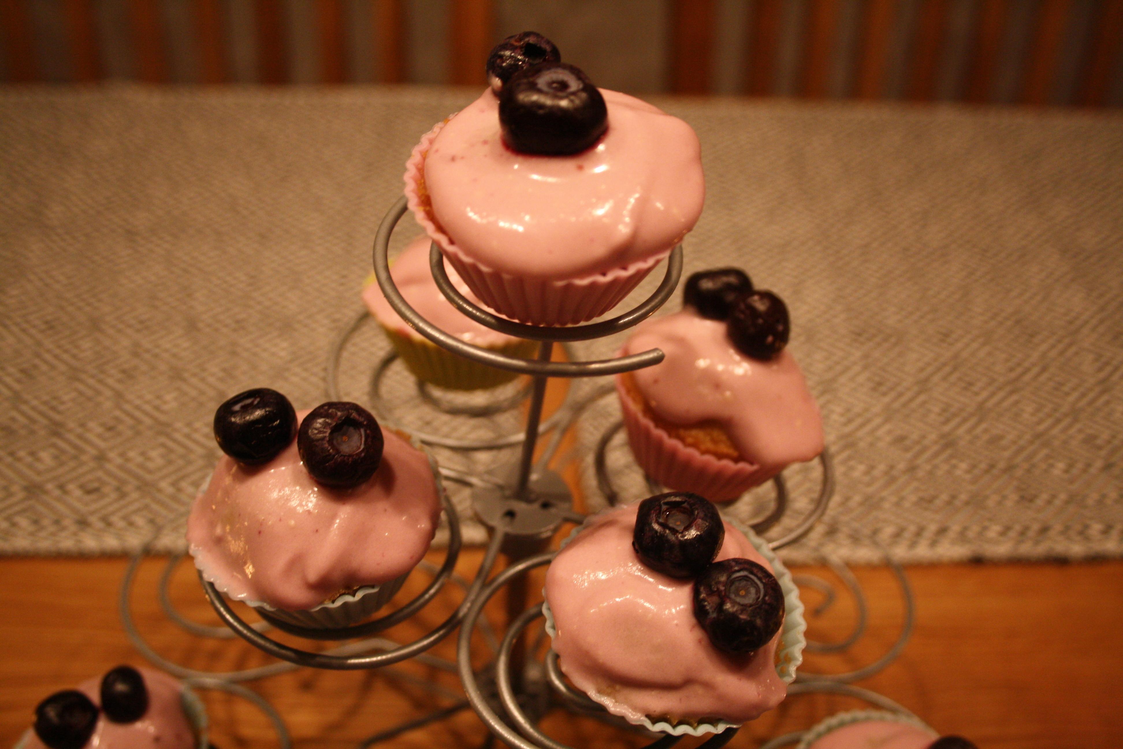 Mini-blåbärscupcakes