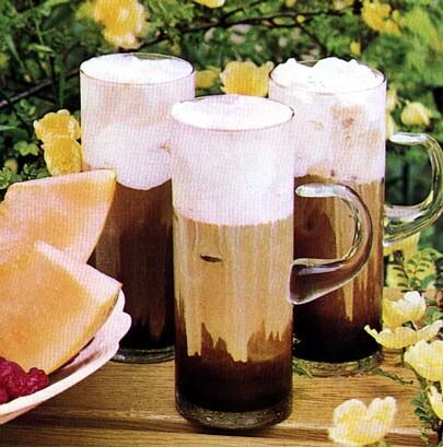 kaffe latte med glass