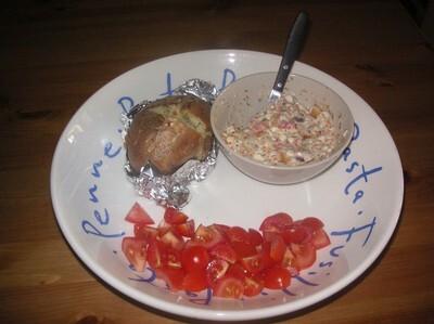Bakad potatis med crabfish- och kesoröra