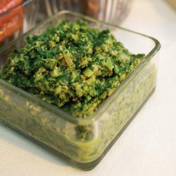 grönkål med flä..