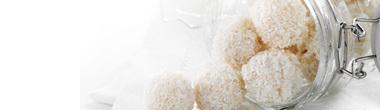 Vita kokoskulor
