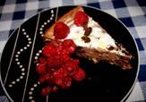 Nougat cheesecake med m�rk choklad