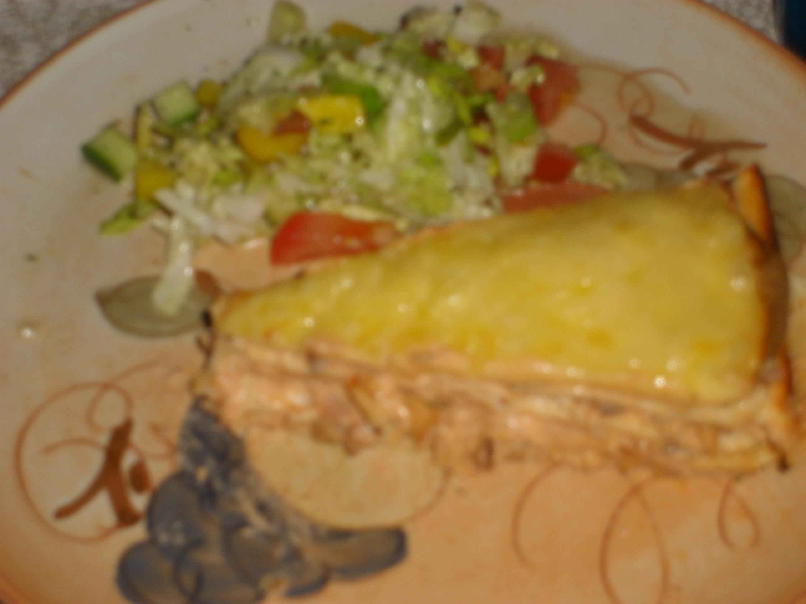 tortilla med fyllning