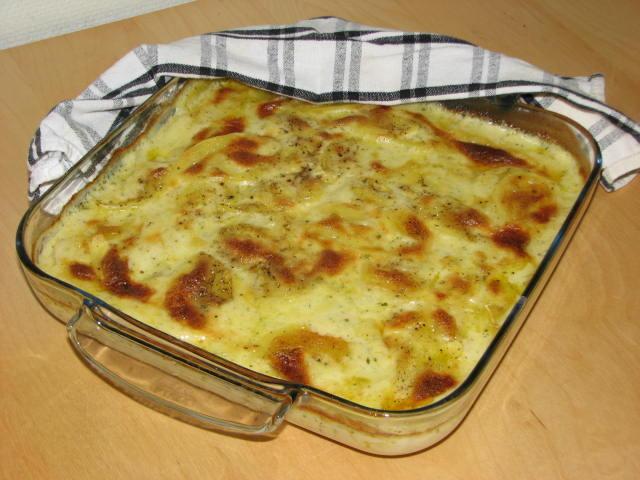 Bèarnaisegratinerad potatis