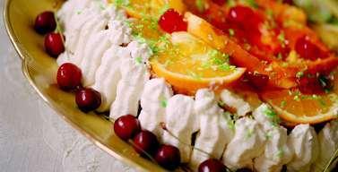 härliga tårtor med exotisk frukt