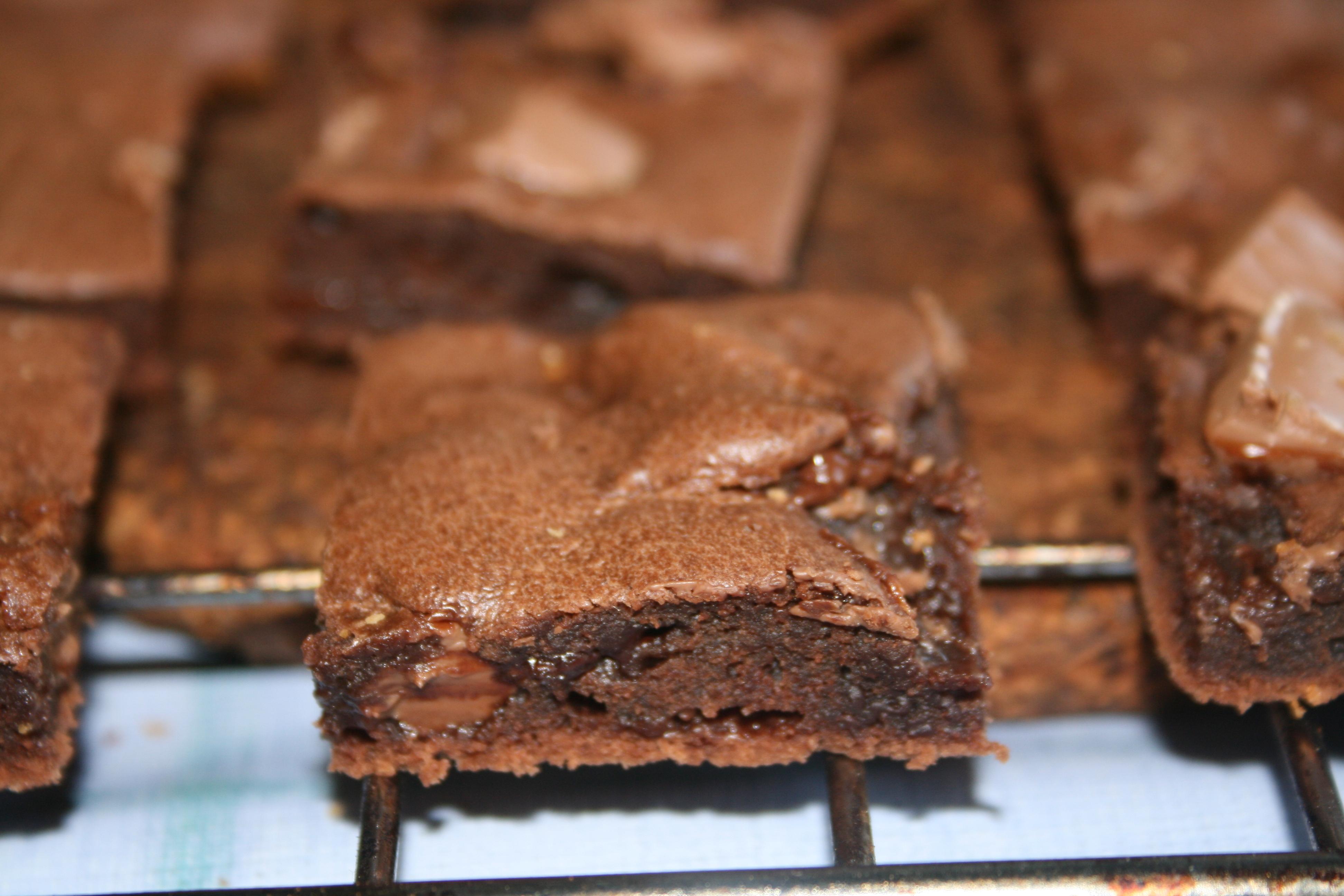 brownies med chokladbitar