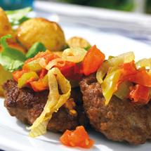Pannbiff med paprikafräs