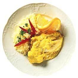 Helstekt kotlettrad med curry och banan