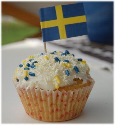 Sverige cupcake