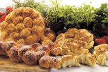 bröd örter ost brytbröd bullar