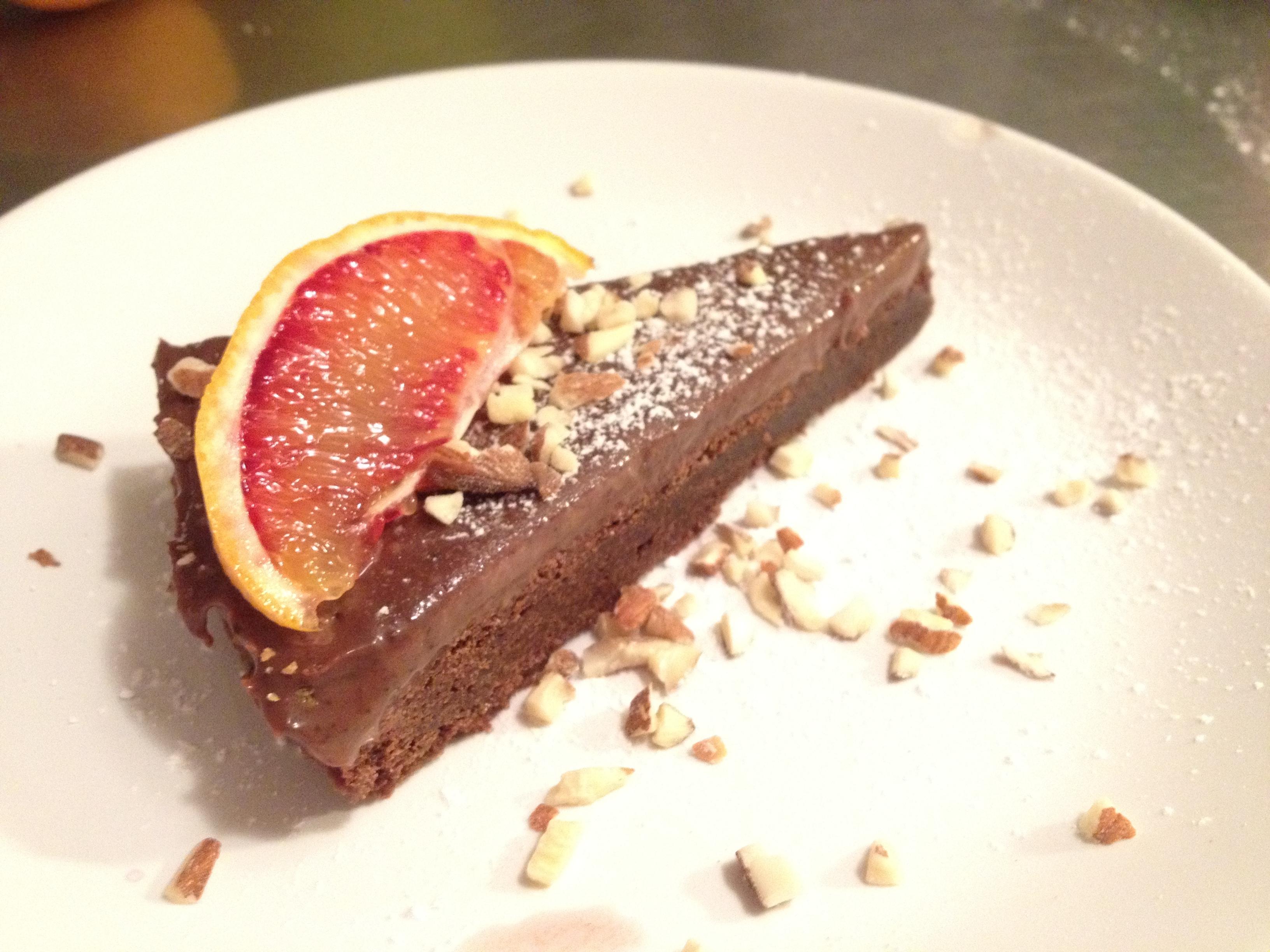 Chokladtårta med chokladtryffel