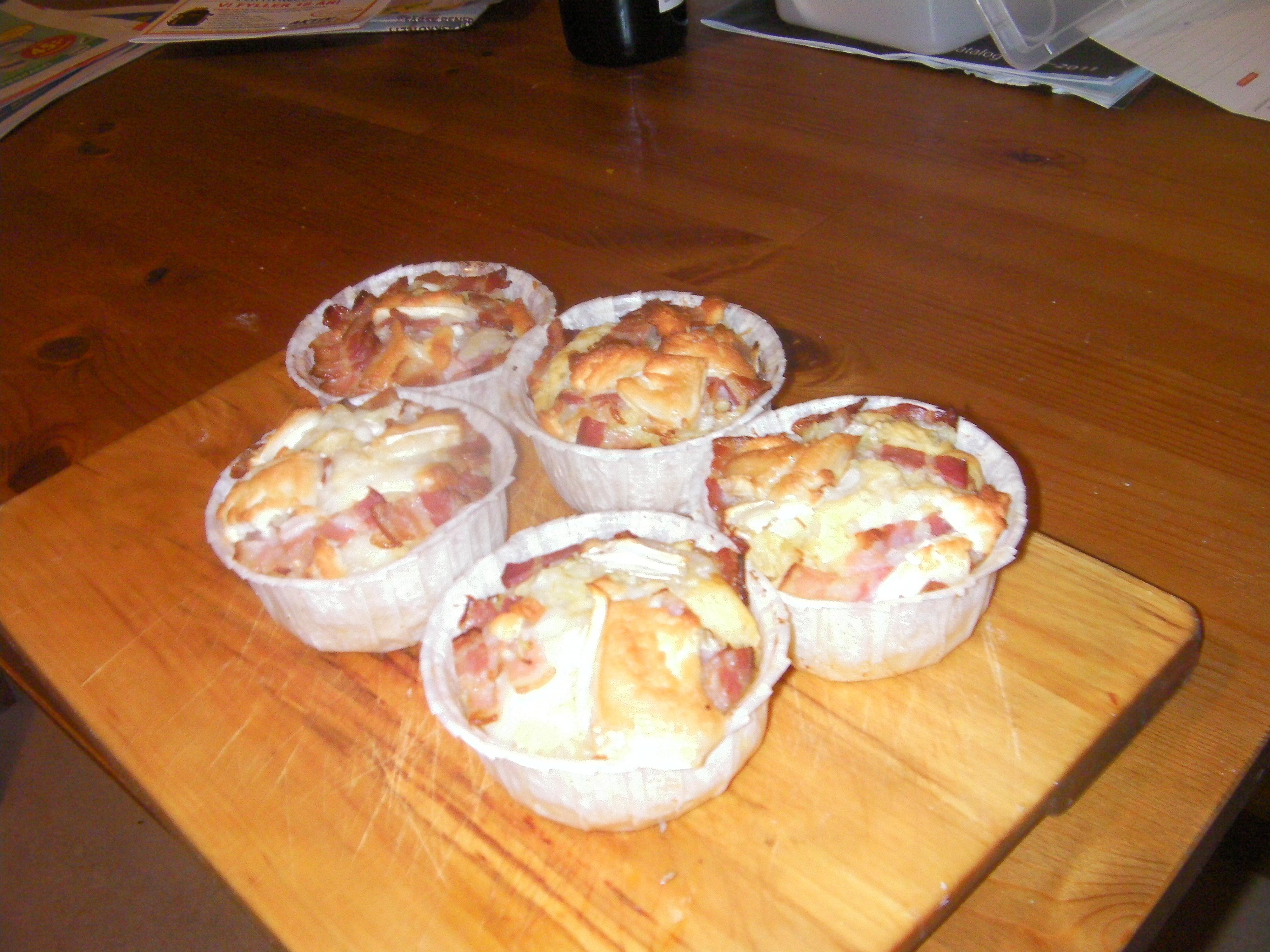 Matmuffins med Bacon och Getost