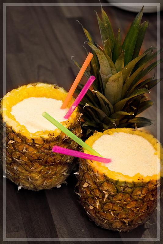 ljus rom ananas drink