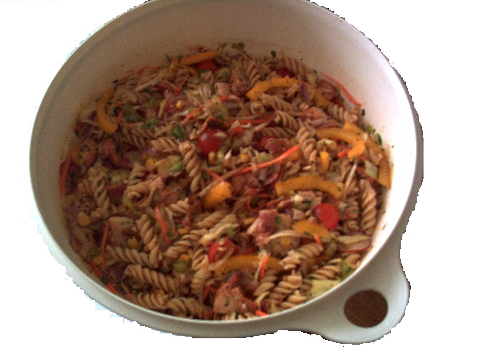 pastasallad med rädisor