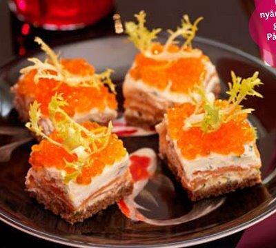 laxsnittar med wasabi