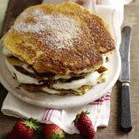 lyxig pannkakstårta