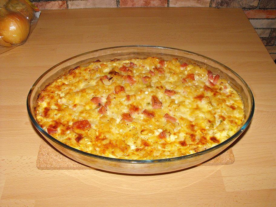 makaronipudding korv