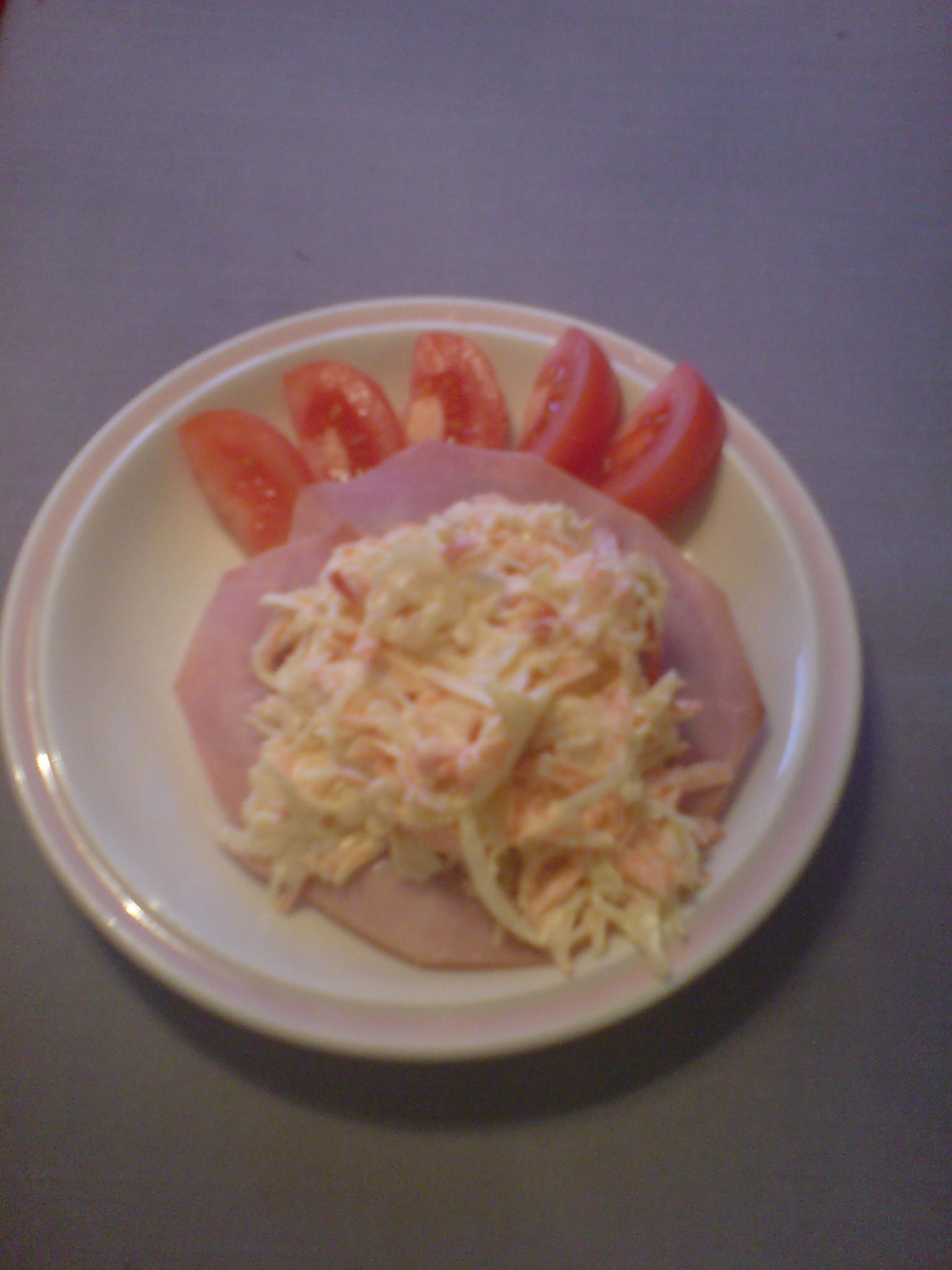 vitkålssallad med majonnäs