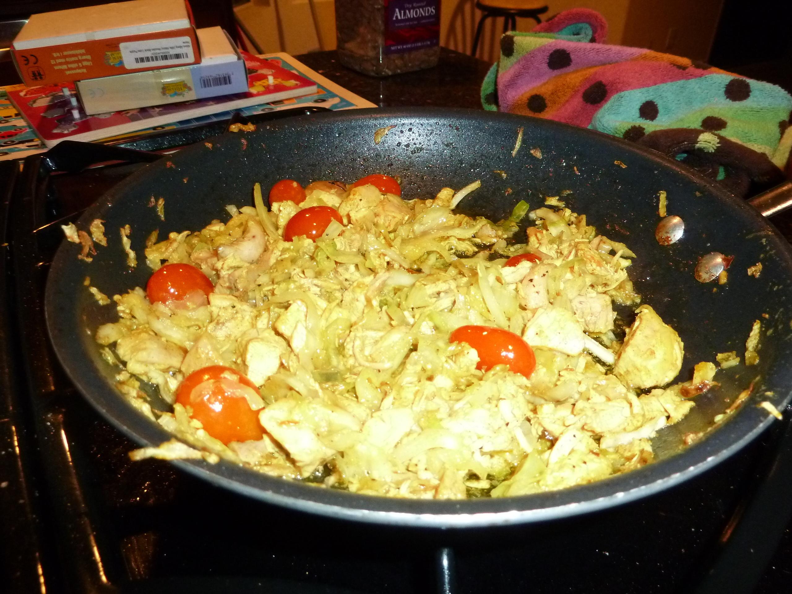 Kål- och kycklingröra med curry LCHF