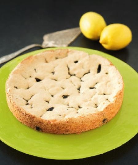 citronkaka med lakrits