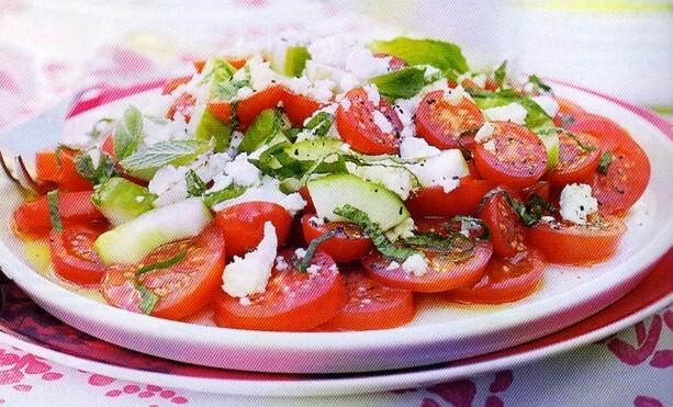 Tomat och gurks..