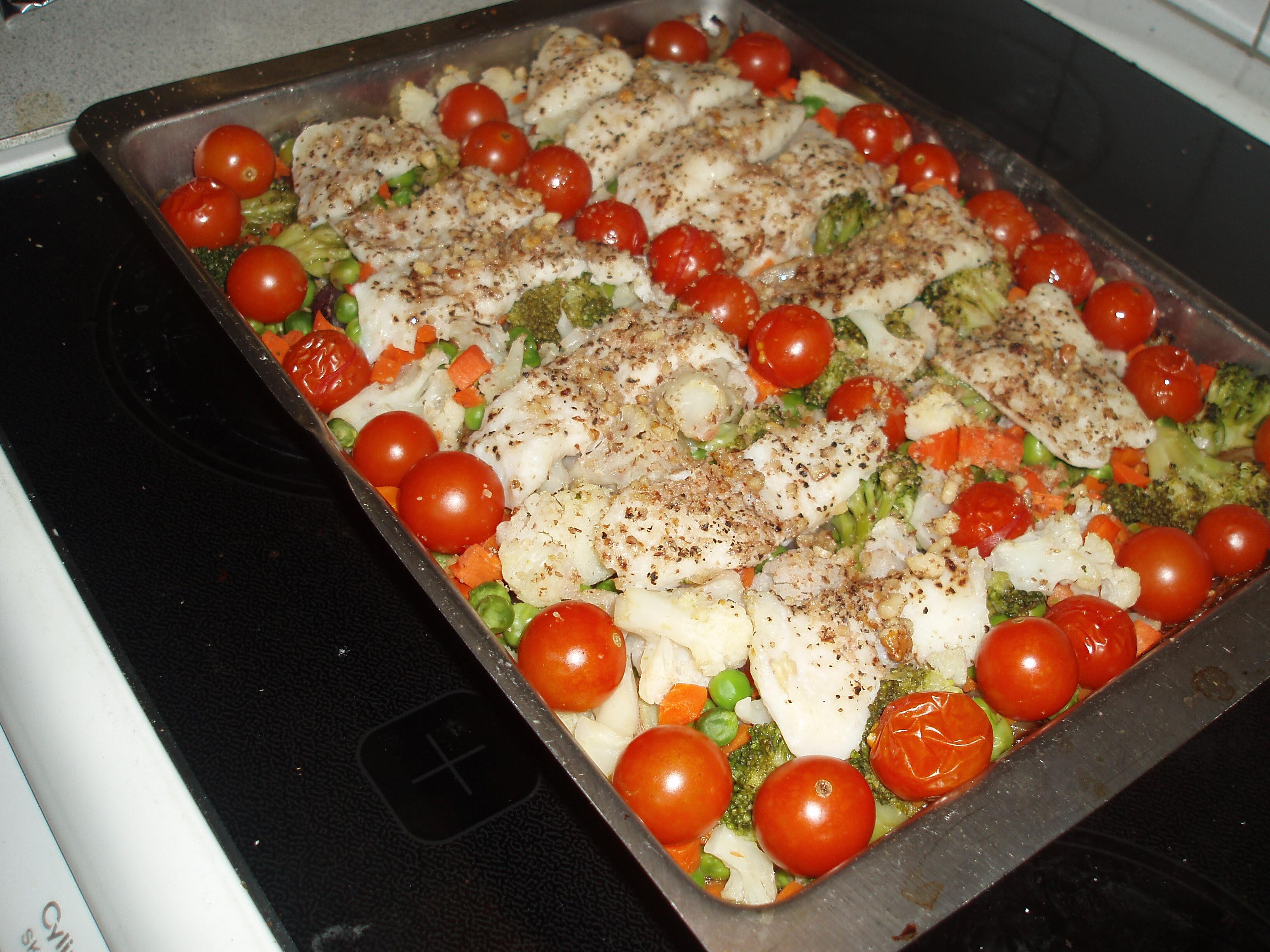 Fisk på grönsak