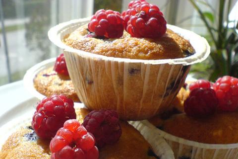 banan kokos muffins