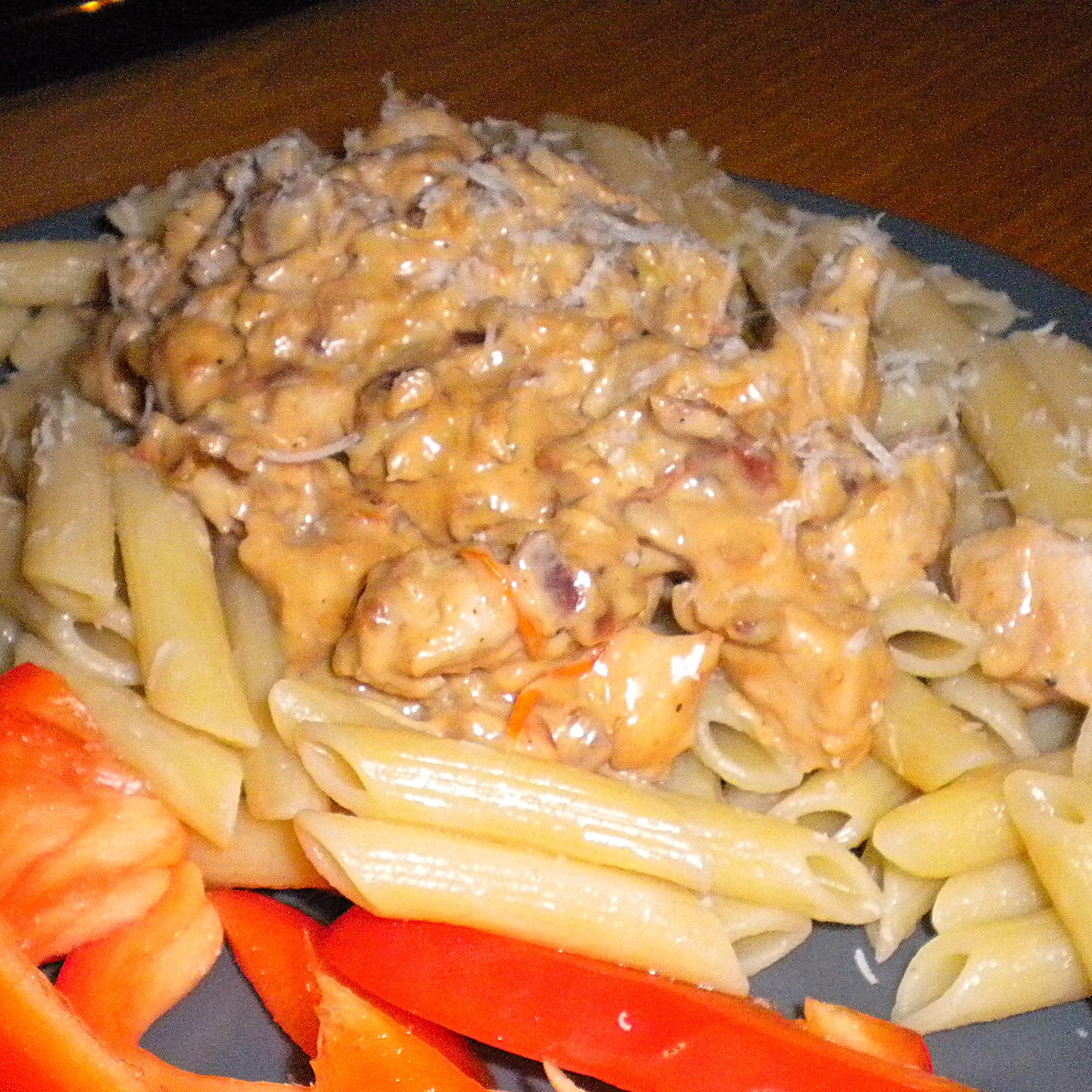Krämig kyckling till pasta