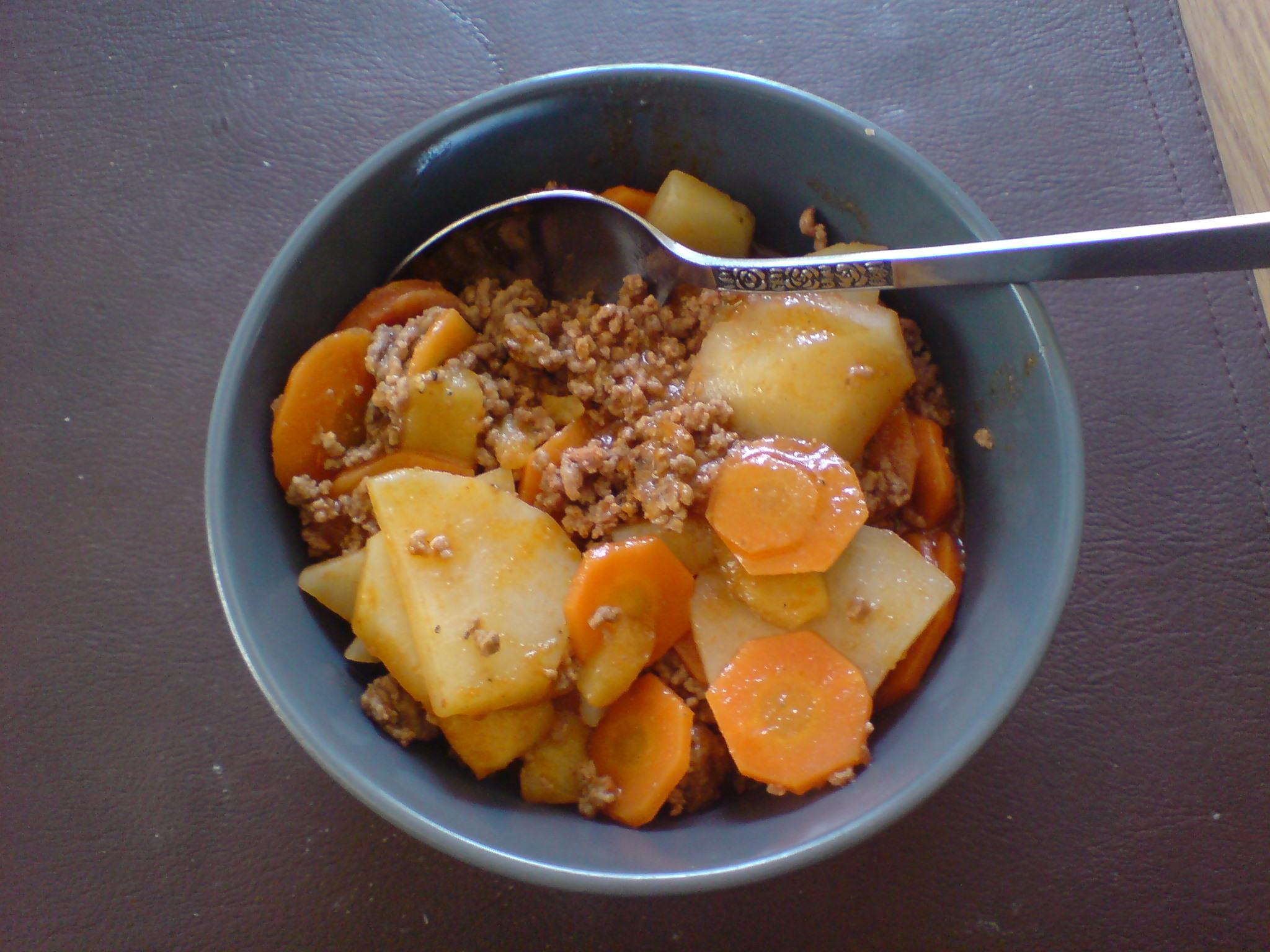 köttfärspanna potatis