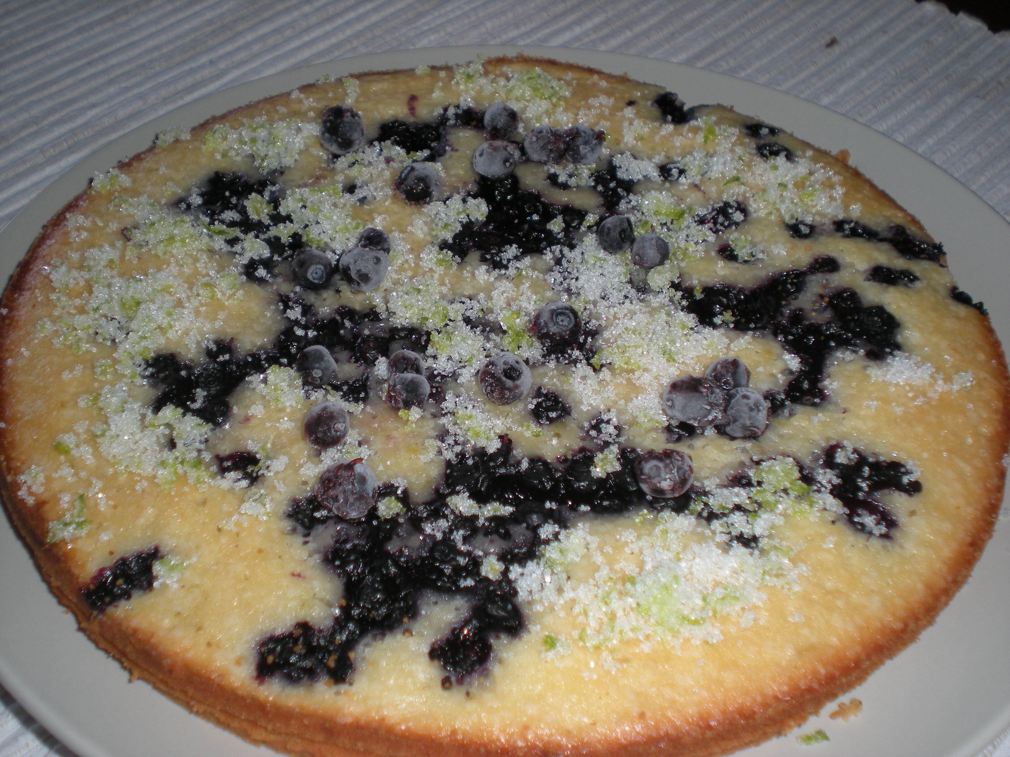 blåbärskaka med lime